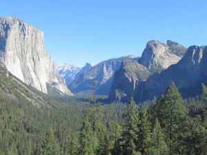 Der Blick ins Yosemite Valley ist seit Jahrhunderten unverändert.
