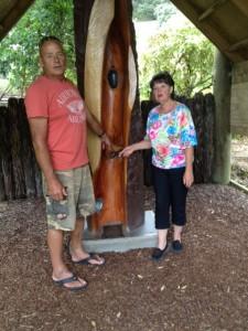 Unvergessen - unsere herzlichen Gastgeber Christine und Drew, La Casa Te Puru, Thames Neuseeland.