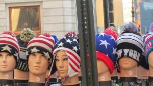 Warme Ohren in den Farben der USA.